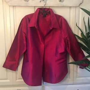 Fuchsia Silk Shirt